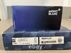 $1625 authentic MINT mont blanc montblanc le grand blue hour fountain + Box +Ink