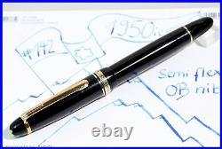 1950's MONTBLANC Masterpiece 142 Celluloid Fountain Pen OB 14C gold nib perfect