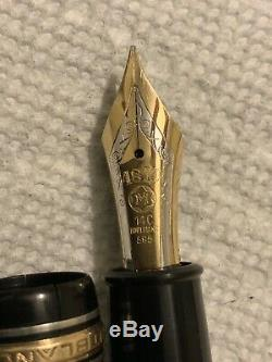 1955-59 Celluloid Montblanc 149-Silver Rings-14C Fine Flex Nib! Look, Look