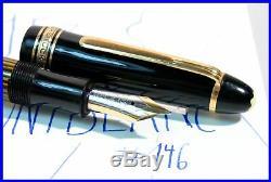 1955 made MONTBLANC Masterpiece 146 Celluloid Fountain Pen, Medium 14C gold nib
