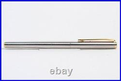 1980er Stahl & Gold MONTBLANC fountain pen NOBLESSE mit weicher 14c 585 M Feder