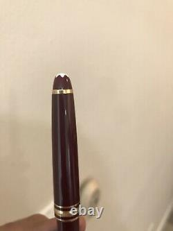 $600 Value Authentic Discontinued Meisterstuck Fountain Pen 144 Burgundy + Gift