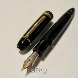 80' Montblanc Fountain Pen #149 Meisterstück nib14K Mediam White EF Evo Core