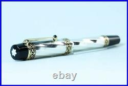 925 Silver Limited Edition MONTBLANC Fountain Pen KARL THE GREAT PATRON OF ART