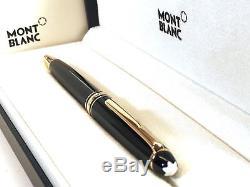 AUTHENTIC Montblanc Meisterstuck 164 Black & Gold Classique Ballpoint Pen 10883