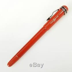 Authentic Montblanc Heritage Rouge et Noir Coral Medium Fountain Pen (114725)