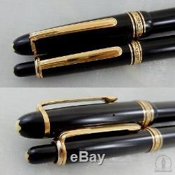C1950 1st Generation Montblanc 144 Fountain Pen 14K BB Flex Nib & Pix 172 Pencil