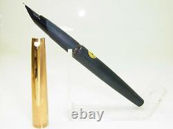 Excellent MONTBLANC 224 Pistonfiller Brushed Fountain Pen 14ct M nib