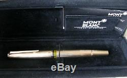 Gorgeous Vintage Montblanc 1246 Fountain Pen Gold Plated Solid Gold 18k Nib