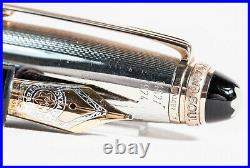 LE MONTBLANC 75th anniversary 1924 LE 146 Fountain Pen 925 SILVER & ROSE GOLD