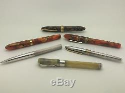 Lepine Tiffany Montegrappa Conklin Montblanc 18 14 Karat Gold Silver Pen Lot 465