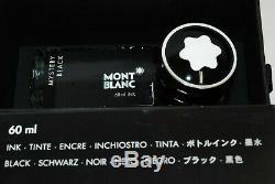 MINT! . MONTBLANC MEISTERSTÜCK 146 Fountain Pen 14k nib F with ink Black