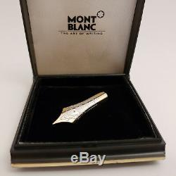 MONTBLANC 149 Fountain Pen Nib Lapel Pin Brooch 14K Gold with ORIGINAL BOX