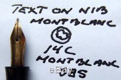 MONTBLANC 244 G Red/grey striated vintage Fountain Pen