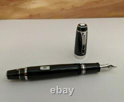 MONTBLANC Boheme Noir Black Gem Stone Fountain Pen, NOS