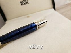 MONTBLANC Boheme Paso Doble Bleu Blue Gem Platinum Trim Rollerball Pen, MINT