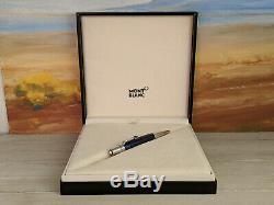MONTBLANC Boheme Paso Doble Bleu Platinum Trim Ballpoint Pen, NOS