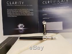 MONTBLANC Etoile de Montblanc F 18K Nib Fountain Pen with 0.06 Carat Diamond