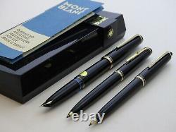 MONTBLANC Fountain Pen 24 Ballpoint Pen 28 Pencil 26 BOX & PAPERS Vintage Set