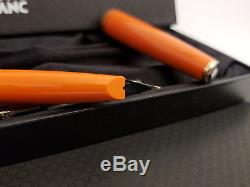 MONTBLANC Generation Orange M 14K Gold Nib Fountain Pen with Box + Converter, NOS