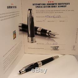 MONTBLANC JOHN F. KENNEDY (JFK) Special Edition M 14K Nib Fountain Pen, NOS