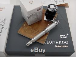 MONTBLANC Leonardo da Vinci Fountain Pen Great Characters #2815/3000 M Red Chalk