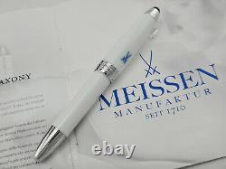 MONTBLANC Masters for Meisterstück White Meissen Porcelain Fountain Pen 18k MNib