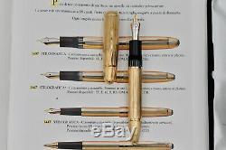 MONTBLANC Meisterstück 149 Solitaire 18k 750 Pinstriped Yellow Gold Fountain Pen