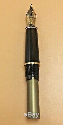 MONTBLANC Meisterstuck Burgundy Fountain Pen 14k Gold Nib 4810