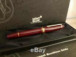 MONTBLANC Meisterstuck Burgundy Red 14K Gold Nib 146R Fountain Pen, NEAR MINT