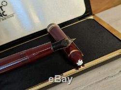 MONTBLANC Meisterstuck Burgundy Red F 14K Gold Nib No. 146 Fountain Pen