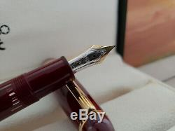 MONTBLANC Meisterstuck Burgundy Red LeGrand 146 Size Fountain Pen, EXCELLENT