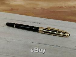 MONTBLANC Meisterstuck Solitaire Doue Black and Gold Medium 18K Nib Fountain Pen