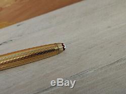 MONTBLANC Meisterstuck Solitaire Doue Vermeil Burgundy 163R Rollerball Pen, READ