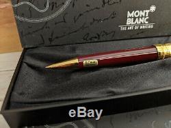 MONTBLANC Meisterstuck Solitaire Doue Vermeil Burgundy 165 Mechanical Pencil