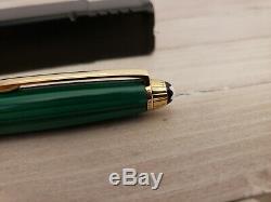 MONTBLANC Meisterstuck Solitaire Nikolai I Malachite & Vermeil 164 Ballpoint Pen