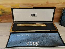 MONTBLANC Meisterstuck Solitaire Pinstripe Vermeil Traveler 147 Fountain Pen