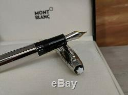 MONTBLANC Meisterstuck Solitaire Stainless Steel II LeGrand Fountain Pen, NOS