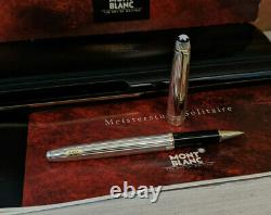 MONTBLANC Meisterstuck Solitaire Sterling Silver 163 Rollerball Pen, NOS