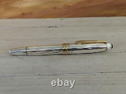 MONTBLANC Meisterstuck Solitaire Sterling Silver. 925 146 Fountain Pen No nib