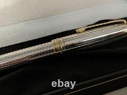 MONTBLANC Meisterstuck Solitaire Sterling Silver 925 LeGrand 162 Rollerball Pen