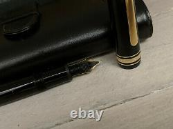 MONTBLANC Meisterstuck Traveler 147 Fountain Pen with Leather Case