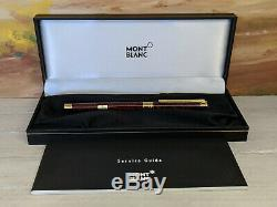 MONTBLANC Noblesse Marble Red Lacquer Medium 18K Gold Nib Fountain Pen, NOS