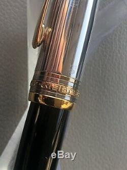 MONTBLANC Solitaire Doue Sterling Silver 925 18K Nib LeGrand Fountain Pen, OB