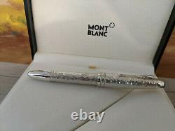 MONTBLANC Solitaire Martele Sterling Silver 925 LeGrand Fountain Pen 115097, NOS