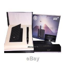 MONTBLANC Starwalker Blk Pen + Signature Business Card Holder Set 111576 $400
