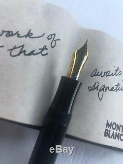 MONTBLANC Writers Edition Agatha Christie Fountain Pen 1993 SILVER Clip F Nib