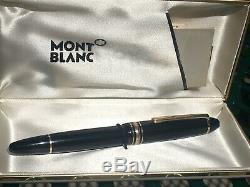 Mont Blanc Black Meisterstuck Germany No 146 14 K Gold 4810 Fountain Pen (READ)
