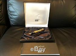 Mont Blanc Boheme Gold Plated Rouge Fountain Pen 25140 Gy107223 5799 New
