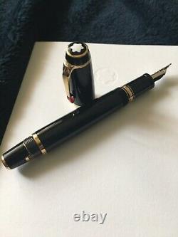Mont Blanc Boheme Rouge M Retractable Fountain Pen. 14k. Ruby Gemstone